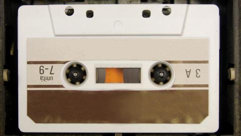 cassette_rwd03 Stock Video Footage