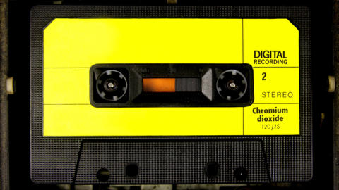 cassette_rwd05 Stock Video Footage