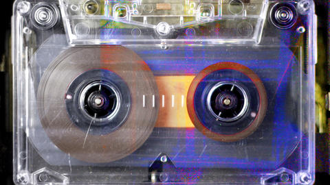 cassette_rwd08 Stock Video Footage