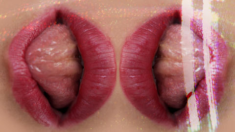 seanna_lips0 Stock Video Footage