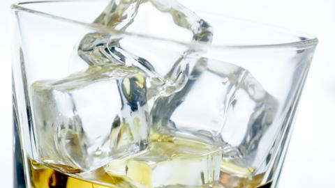 Close up pouring scotch Stock Video Footage
