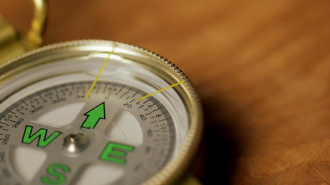 Compass Close-up stock footage
