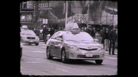NYC Times square cars Footage