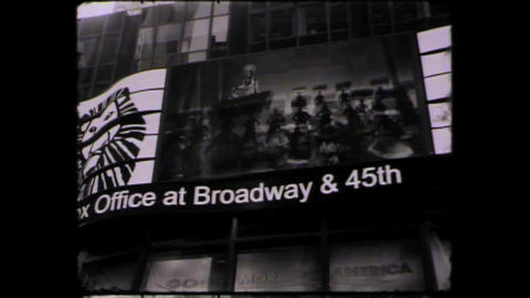 NYC Times square Lion king Stock Video Footage