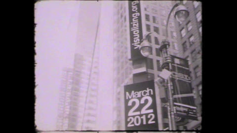 NYC Times square building Stock Video Footage