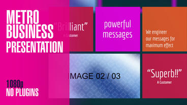 Metro Business Presentation After Effects Template