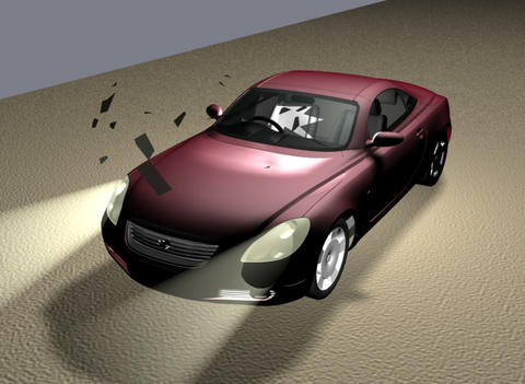The damage on the car Animation