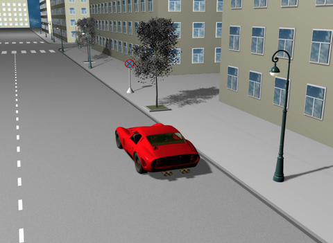 Road situation 3D Animation