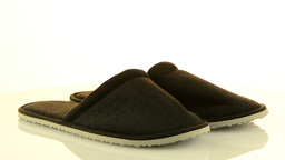 A pair of grey slippers Stock Video Footage