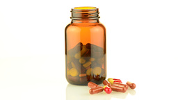 Pills From Bottle stock footage