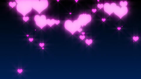 HD Hearts Falling Video Background Stock Video Footage