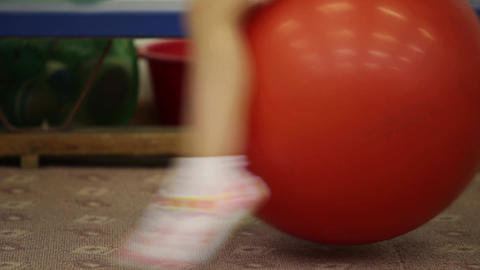 child bouncing Stock Video Footage