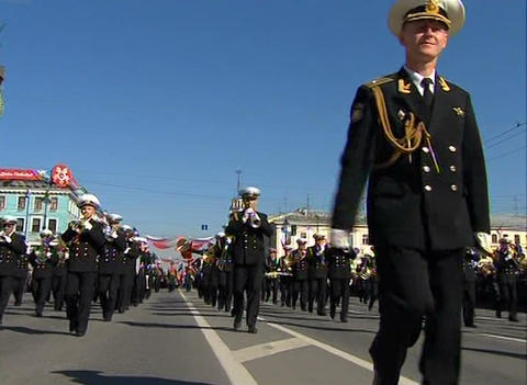 A military orchestra Stock Video Footage