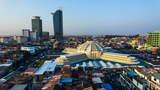 Timelapse Of Phnom Penh Central Market 1080 stock footage