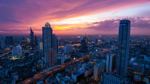 Bangkok timelapse at sunset Footage