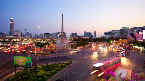Timelapse - Bangkok Victory Monument Stock Video Footage