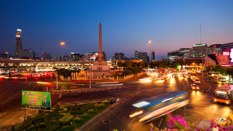 Timelapse - Bangkok Victory Monument Footage