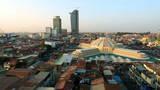Phnom Penh Central Market - Panning stock footage