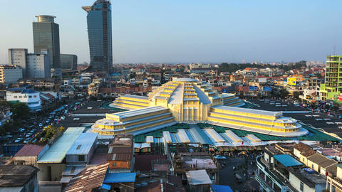 Timelapse of Phnom Penh Central Market 1080 Footage