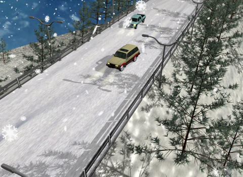 The collision of cars on the road Animation