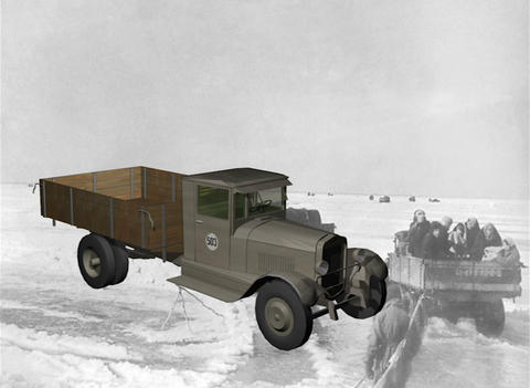 GAZ-MM one and a half ton truck Stock Video Footage