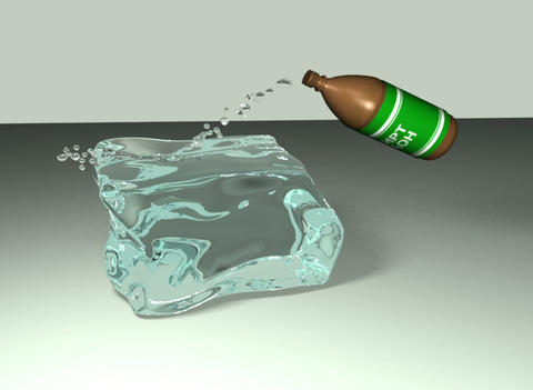 Alcohol melts the ice Animation