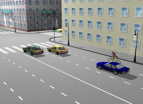 Cyclist violator of the rules on the road Animation