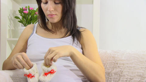 pregnant woman Stock Video Footage
