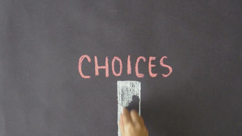 Choices Stock Video Footage
