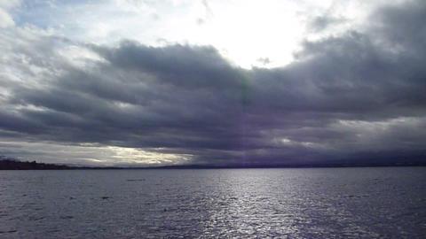 Peaceful water lake Stock Video Footage
