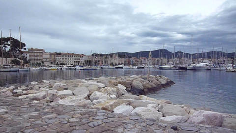 View of Sanary-sur mer, France Stock Video Footage