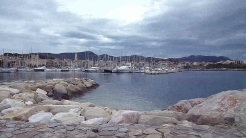 View of Sanary-sur mer, France Footage