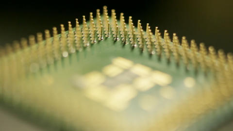 Pins Of Computer Processor stock footage