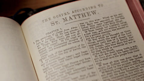 Reading Bible Stock Video Footage