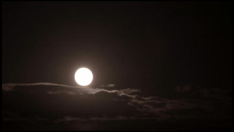 Moon and clouds timelapse Stock Video Footage