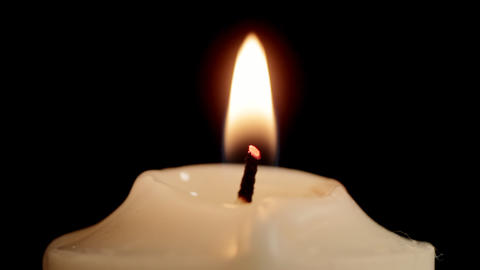 Candle CU stock footage