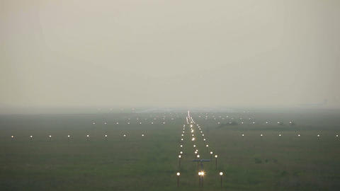 Landing in the mist Stock Video Footage
