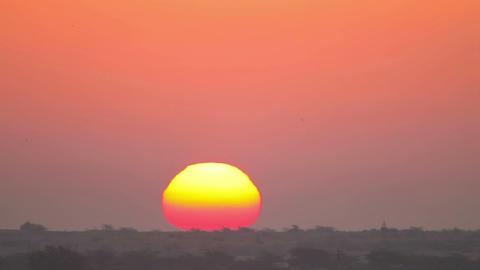 Indian sunrise Stock Video Footage