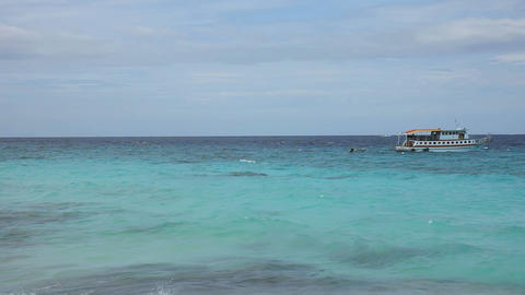 Beach panorama Stock Video Footage
