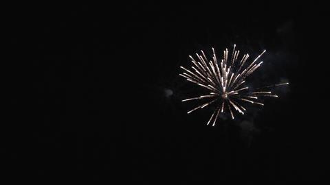 Pyrotechnics at night Footage