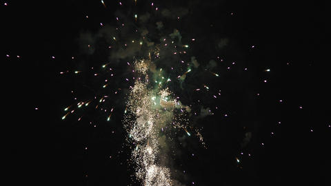 Clip of a colorful fireworks show Footage