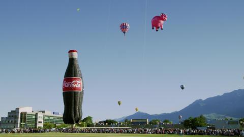 Shot of Utah hot air balloons Footage