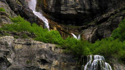 Bridal Veil Falls in Provo, Utah Footage