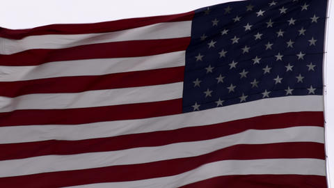 Close up of the United States flag waving Footage