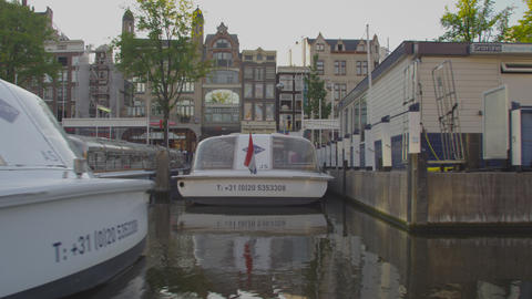 AMSTERDAM, NETHERLANDS - CIRCA 2013: Tracking shot of Amsterdam on 2013 in Amste Footage