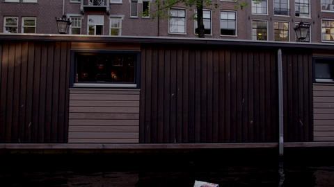 Sightseeing at the canal in Amsterdam, Netherlands Footage