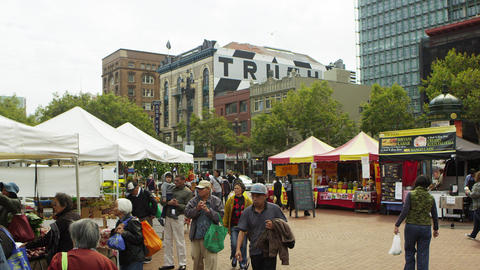 San Francisco open market Footage