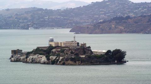 Alcatraz Prison in San Francisco Footage