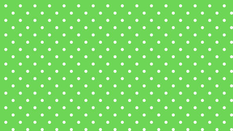 Dot pattern WHT Bg GRN 10sec loop CG動画