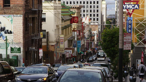 Busy street in Chinatown, San Francisco Footage